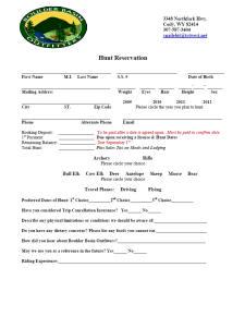 Hunt Reservation